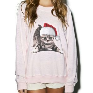 Wildfox Couture Meowy Christmas Sweater